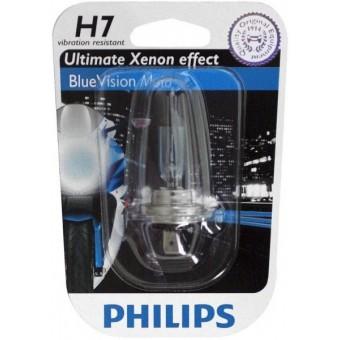 Ampoule type h7 philips blue vision