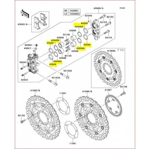 Kit joint étriers de frein avant