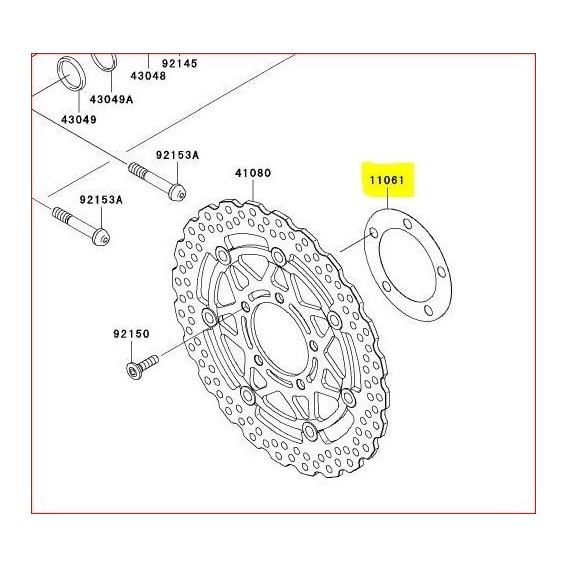 Rondelle pour disque de frein 110610029