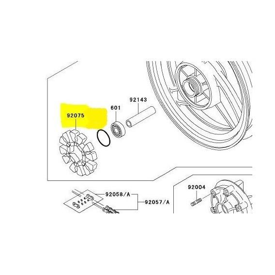 Silent block de roue arrière 920751436