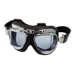 Lunettes air force noir-chromee clair