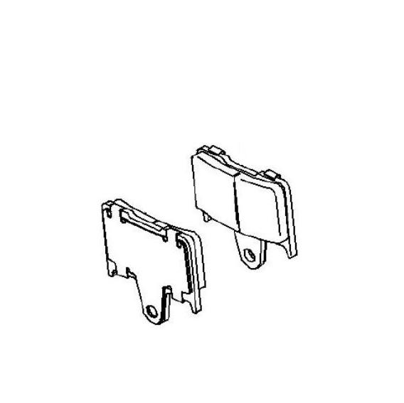 Plaquette de frein arrière (430820055)
