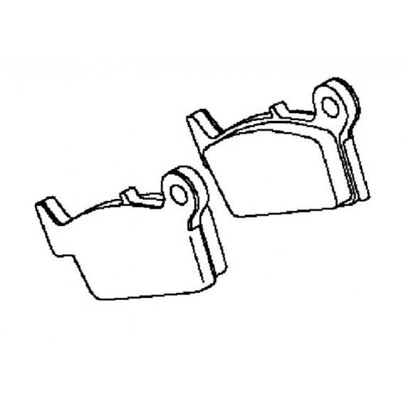 plaquette de frein arrière (430820107)