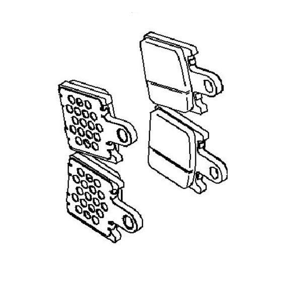 Plaquette de frein avant (430820118)