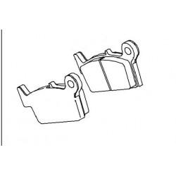Plaquette de frein arriere (430821173)