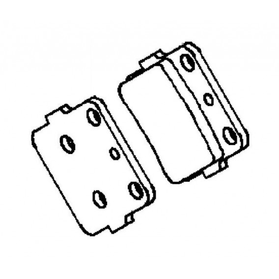 plaquette de frein arriere (430821163)