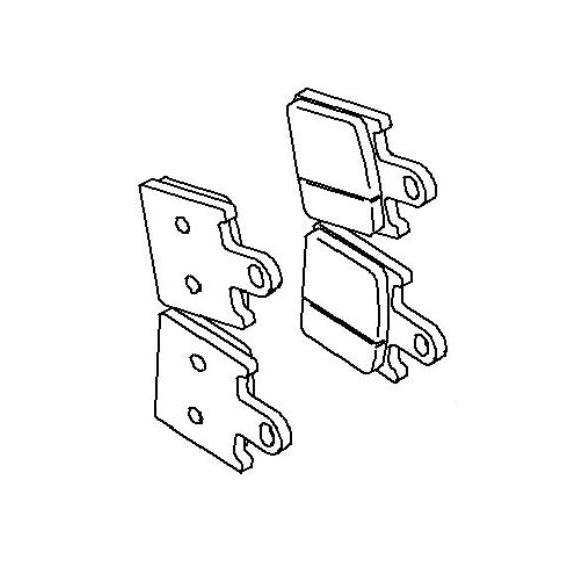 Plaquette de frein avant (430820072)