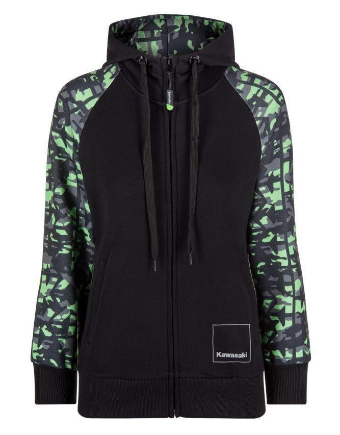 9b1213cad Sweat à capuche kawasaki camouflage Femme - Boutique Access K