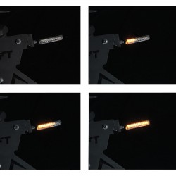 Clignotants à LED Séquentiel 2.0 Hammer Noir/Fumé Chaft