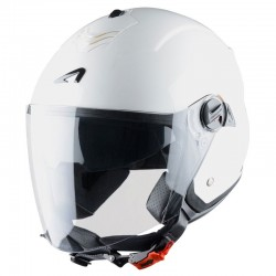 Casque Astone Minijet S blanc brillant