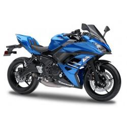 Capot de selle bleu Ninja 650