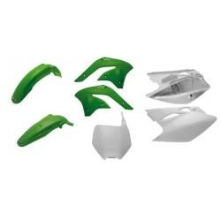 Kit plastiques UFO couleur origine vert/blanc Kawasaki KX450F 2008
