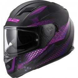 Casque LS2 FF320 Stream Evo lux noir mat violet