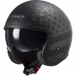Casque LS2 OF599 Spitfire black flag
