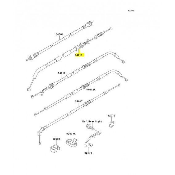 Câble pour Kawasaki ZR7.