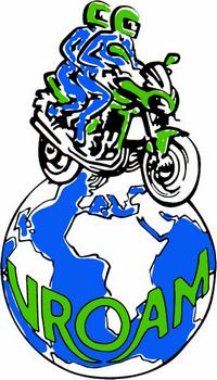 Logo vroam - Balade à moto